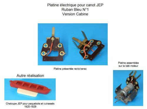 Reproduction platine électrique pour canot Ruban Bleu N°1 version cabine JEP