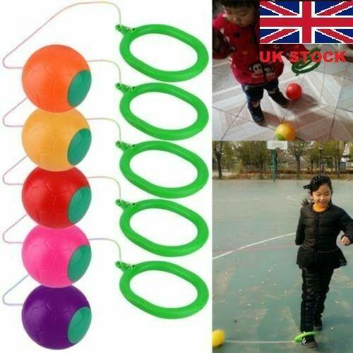 UK Stock Skip Ball Ankle Skip It Jumping Toy For Children Kids Random Color BS