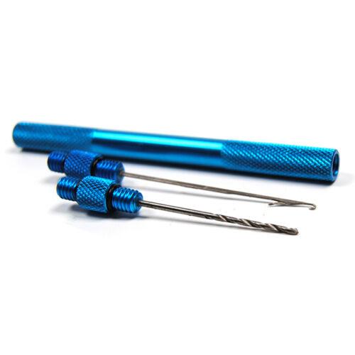 4farben Alloy Karpfenangeln Köder-Werkzeug  machen Rigs Drill Haken-Nadel-Gerät\
