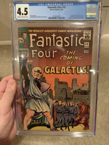Fantastic-Four-48-CGC-4-5-1st-Silver-Surfer-amp-Galactus-Classic-Kirby-Cover
