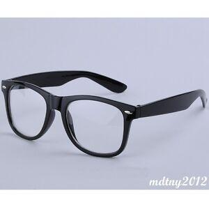 clear lens black frames wayfarer glasses designer fashion