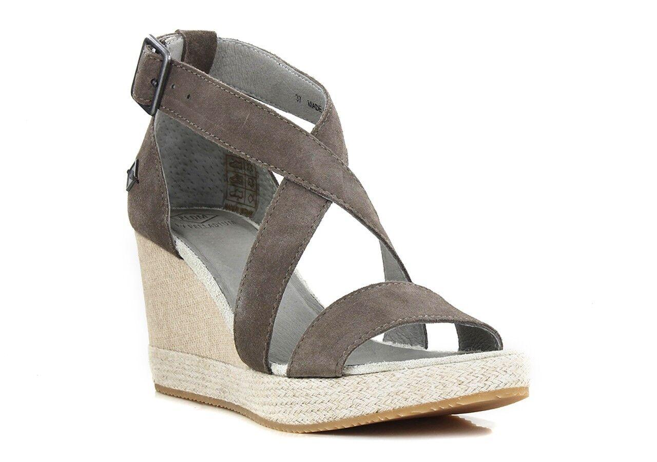 P-L-D-M BY PALLADIUM Wellton Sud Acacia High Wedge Sandals UK 4 EU 37 LN16 79