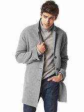 Men's Gap new heather grey Wool Blend Crombie Coat sm NWT!
