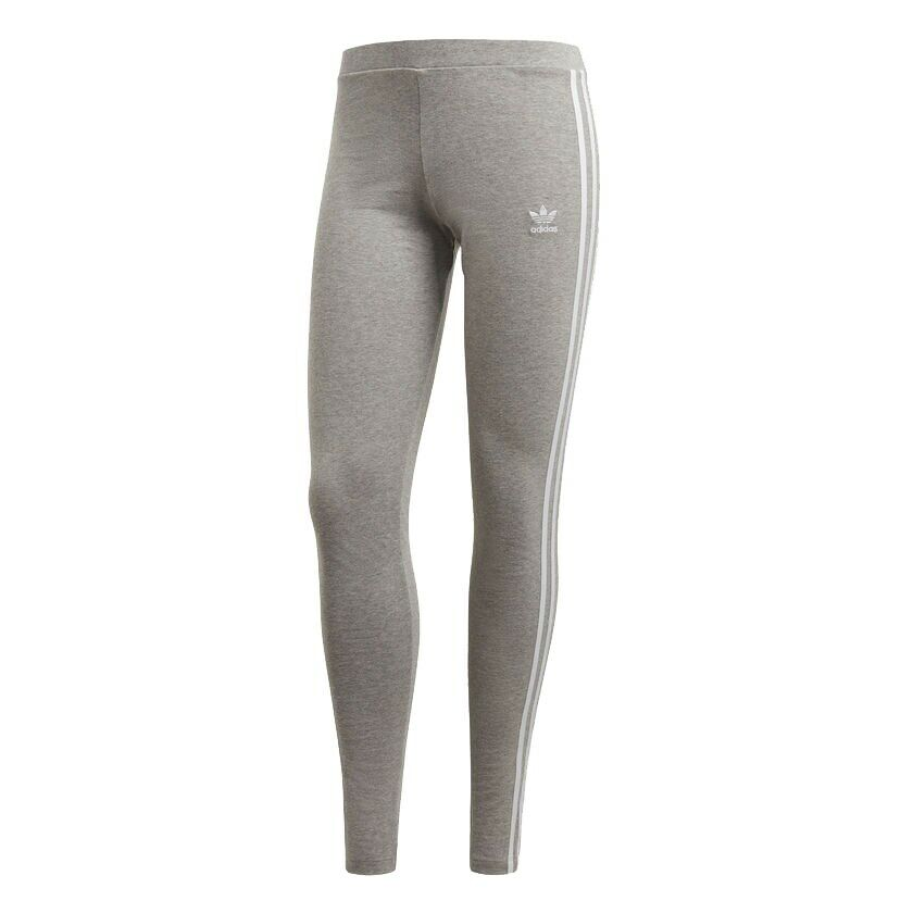 Adidas Leggings 3 Stripes Woman Grey Cy4761 Grey Mod. Cy4761