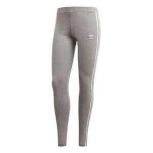 buy popular 80190 6e071 Image is loading Adidas-LEGGINGS-3-STRIPES-WOMAN-Grey-CY4761-GREY-