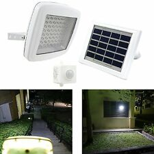 LED Solar Powered Dusk-to-Dawn Motion Sensor Waterproof Security Flood Light