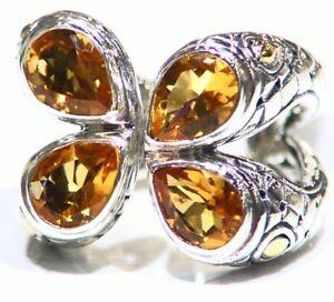 Samuel-B-Behnam-BJC-Natural-Stone-18K-Gold-Vintage-Sterling-Silver-925-Ring-Deco