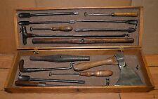 Rare museum quality Sabot Sabotier clog maker tool lot antique collectible wood