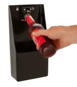 Professional-Stand-Up-Bottle-Opener-amp-Cork-Catcher-Wall-Mounted-Bar-Beer-Opener