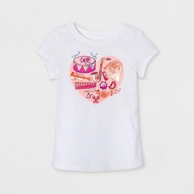 Toddler Girls NASA T-shirt Future Astronaut Round Hem White