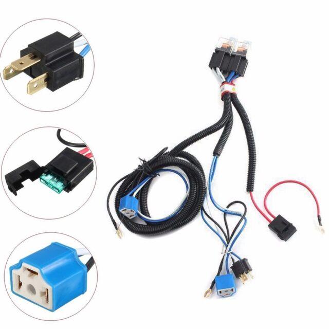 h4 headlight headlamp light bulb relay wiring harness socket plug wire kit  ef