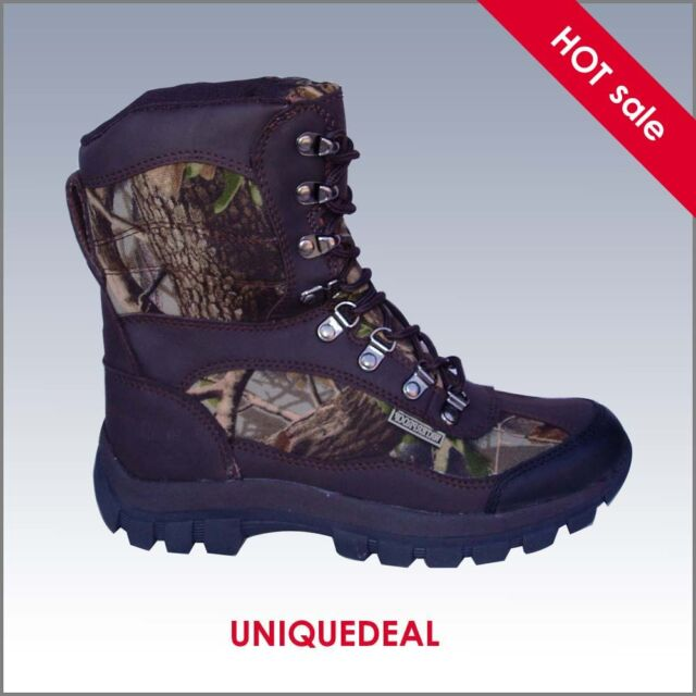NEW *KINGSHOW* MENS SNOW WINTER HUNTING BOOTS WATERPROOFCAMO