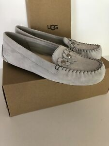 fc695b682bd Details about UGG Lizzy Poppy 1097113 Gray Violet Moccasins Slippers New  With Box