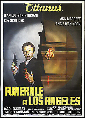 CINEMA-manifesto FUNERALE A LOS ANGELES trintignant, orsini, DERAY | eBay