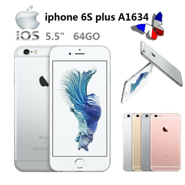 Argent Apple IPhone 6S Plus 64GB Débloqué 4G LTE Smartphone Dual-core 12MP GPS