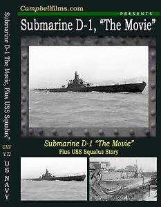Details about Submarine D-1, The Movie Plus the USS Squalus Disaster