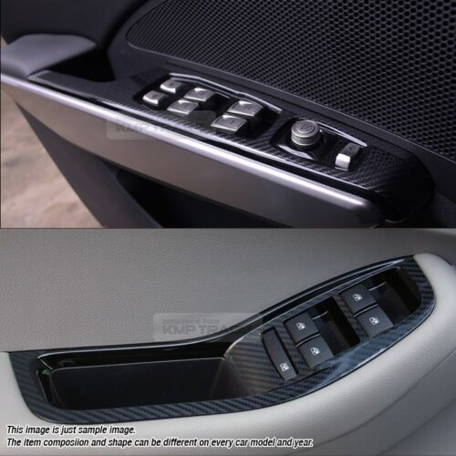 Interior Window Switch 5D Glossy Shiny Carbon Decal 4P For KIA 11-16 Sportage R