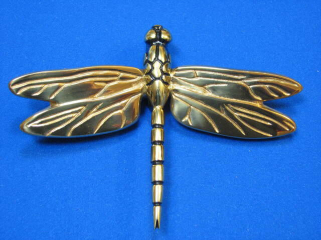 New Polished Brass Bronze Dragonfly Door Knocker Designed By Michael Healy  Decor