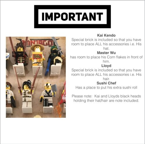 Mini figurines Lego Ninjago film série figurines affichage cas chassis