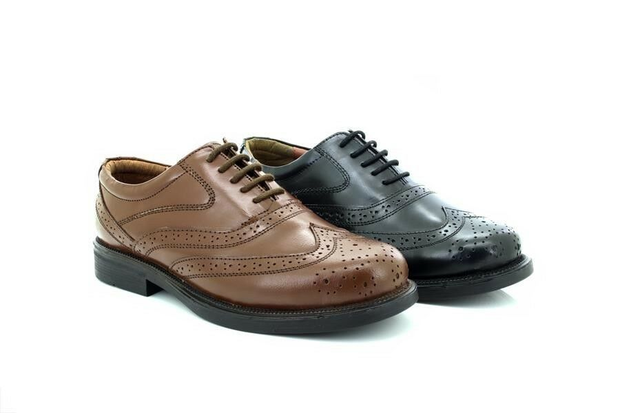 Mens Scimitar Cap Classic Leather Brogue Wing Cap Scimitar Oxford Shoes 637fac