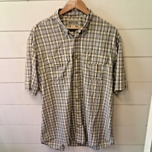 DULUTH-TRADING-CO-Men-039-s-Large-Tall-Button-Down-Plaid-Shirt
