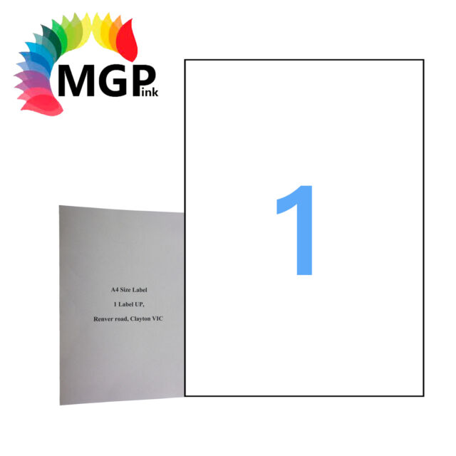 500 Sheets 1 Label Per Page 500 Labels 210x297mm A4 Office Mailing Labels