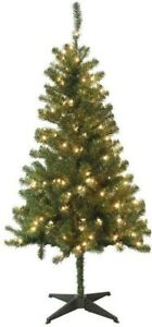 Home Accents Holiday 5 ft. Pre-Lit Wood Trail Pine ...