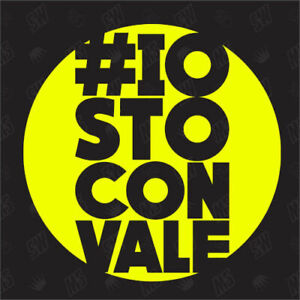 "/""I stand to Vale/"" #IoStoConVale Valentino Rossi Sticker Moto GP Sticker"