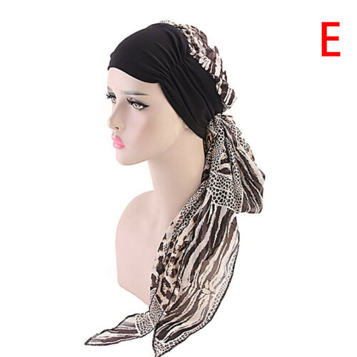 Womens bandana tête foulard turban pré-attaché couvre-chefs chimio chapeau IU