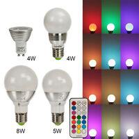 Led Rgb Lampen E27 Gu10 16 Farben 4w 5w 8w Farbwechsel Licht Glühbirne Spot, A+, A+
