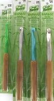 Bamboo Handle Silvalume Set Susan Bates Aluminum Crochet Hook 4 Sizes K-n 6.5-10