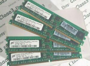 4gb 4x1gb Memory Memorie 373029-051 Ecc Per Hp Compaq Proliant Dl145 G2 Server Excellent Effet De Coussin