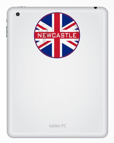 2 X 10cm Newcastle Inglaterra Pegatinas De Vinilo-Reino Unido Bandera Pegatina equipaje #20606