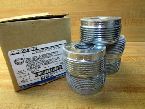 """Pack of 5 Details about  /Thomas And Betts RE51-TB Reducer Bushing RE51TB 1-1//2/""""-3//4/"""""""