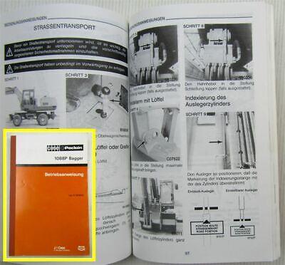 Business & Industrie Case Poclain 1088 P2a P2al Bagger Betriebsanleitung Bedienung Wartung 1989 Einen Einzigartigen Nationalen Stil Haben Literatur