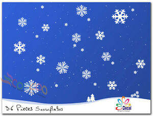 Wall-Decor-Decal-Sticker-Removable-snowflake-Merry-Christmas-Snowflakes-36-PCS