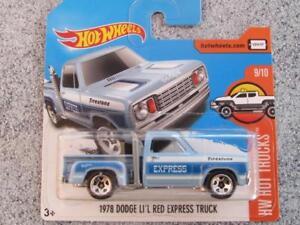 HOT-WHEELS-2017-131-365-1978-DODGE-Li-039-L-ROUGE-EXPRESS-Camion-bleu-HW