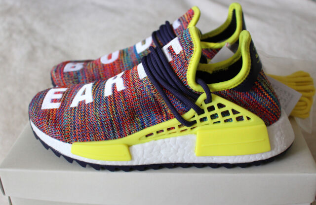 84951b73d New Adidas Pharrell Williams Human Race HU NMD Trail Multi Ink Yellow UK 6  US6.