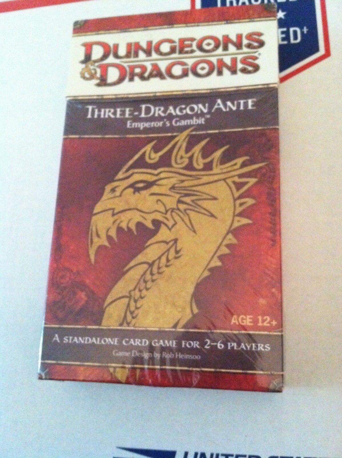 D &D Three -drake Ante Kejsare spel spel Dungeons &drake s SEALD NIB