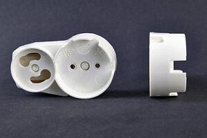 weiss 1 Stück Aufsteckfassung mit Starterhalterung T8 Leuchtstofflampe 26mm G13