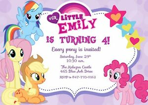 Crafty image pertaining to my little pony invitations free printable