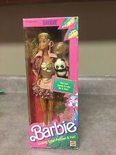 Animal Lovin Barbie Doll 1988 Safari Fashion Panda Mattel #1350 New in Box