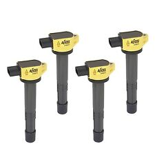 Accel 140311-4 Coil Super Coil Pack Socket Yellow for Acura & Honda Set of 4