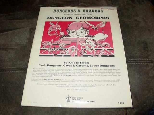 TSR 1980 - D&D Dungeons and Dragons - Dungeon Geomorphs Set 1 - 3 (GREAT)