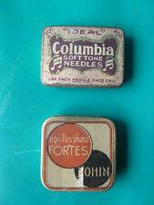 Lot de 2 pièces ancienne boite publicitaire Bohin Columbia,  french antique