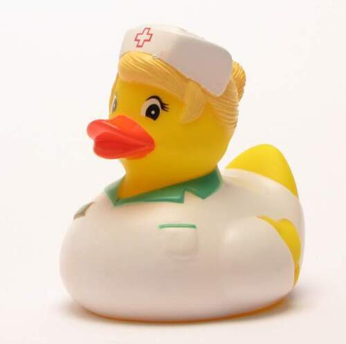 Badeente Krankenschwester Quietscheentchen Quietscheenten Gummiente Plastikente
