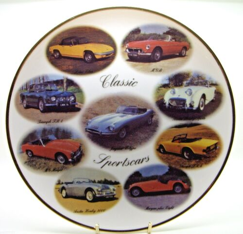 Classic Sports Cars Porcelain Plate