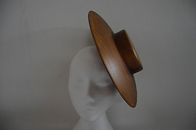 Large Wooden hat block/ Fascinator with pill box top 293 mm