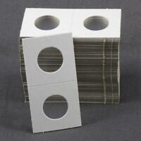 100 Cardboard 1.5x1.5 Coin Holder Mylar Flips for Cent / Dime 1 1/2 x 1 1/2