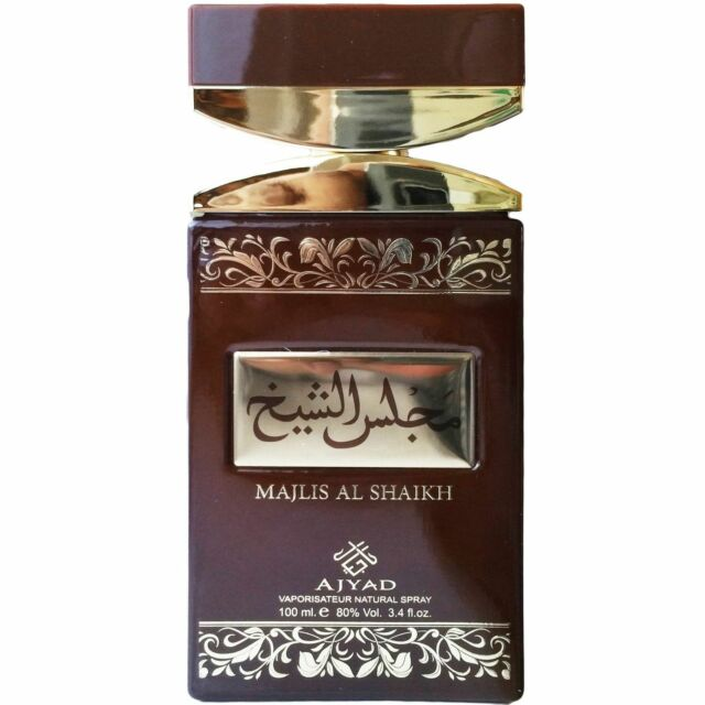 Majlis Al Shaikh 100ml By Ajyad Agarwood Sandalwood Spicy Woody Amber Musky Rich